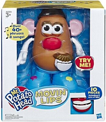 Playskool Mr. Potato Head Movin' Lips Electronic Interactive Talking Toy, New