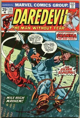 Daredevil #111 - VF- - 1st Appearance Of Silver Samurai - Mark Jewelers Insert