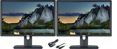 """""""Lot of Two"""" Dell P1913t /P1913b 19"""" Widescreen 1440x900 LED Backlit LCD Monitor"""