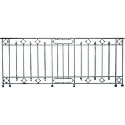 Antique French Painted Wrought Iron Balcony c. 1900