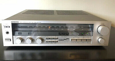 Onkyo TX-31 FM Stereo/AM Tuner Amplifier. TESTED. Vintage 1982 Silver