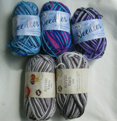 Knitting wool / Acrylic 8 ply 500g Oddments