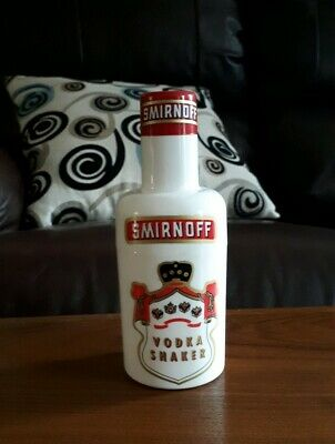 Vintage Smirnoff Vodka White Plastic Cocktail Shaker