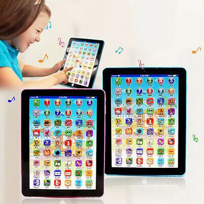Baby Tablet Educational Toys Kids For 1-6Year Toddler Learning English Gift Blue