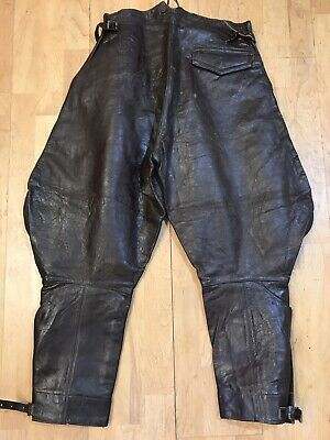Vtg Leather Breaches Dated 1951