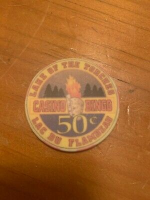 Vintage Lake Of The Torches Casino Bingo Lac Du Flambeau $0.50 Casino Chip