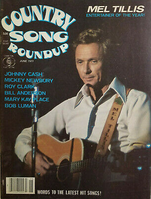 Country Song Roundup June 1977 Vtg Music Magazine - Mel Tillis - Johnny Cash