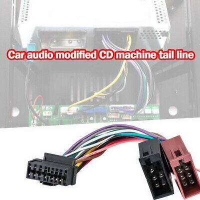 1 Set ISO Wiring Harness Connector Adaptor For Sony 16 Pin Car Stereo Radio US