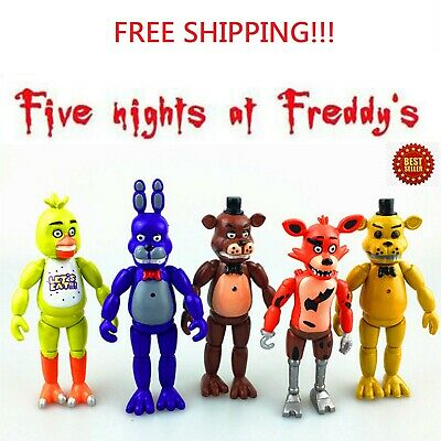 Five Nights At Freddy's FNAF 6'' Action Figures 5 Pcs toy with Light Xmas Gift