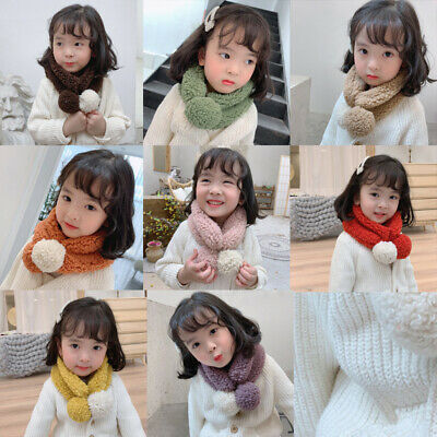 Baby Boy Girls Plush Scarf Infant Collar Warmer Scarves Toddler Neckerchief HOT