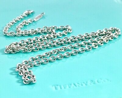 Tiffany & Co. Sterling Silver 1.5mm Chain 17in Chain Necklace Lobster 191206A