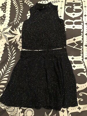 Girls Sparkly Two Piece Set 7-8 Years
