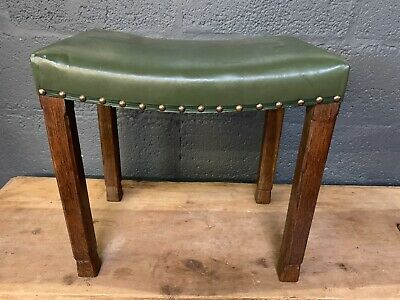 Rare George VI Oak Coronation Stool by Glenister c1937 with Souvenir Book