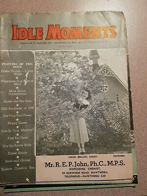 Idle Moments Vintage magazines (3) Apr 1950, May 1950 & Feb 1952.