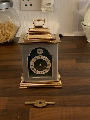 Thwaites And Reed Mantle Carriage Clock Brass And Silver