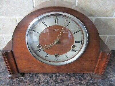 Smiths Enfield Westminster Chime Wooden Cased Mantle Clock  c1930's