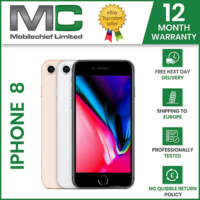 Apple iPhone 8  64GB / 256GB - Unlocked - Various Grades - UK Delivery 12M