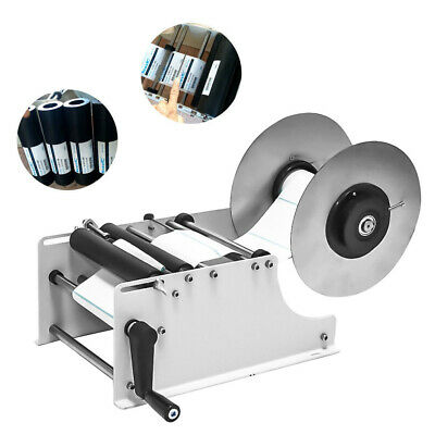 Manual Round Bottle Label Paste Labeling Machine Labeler 20-40 times/min