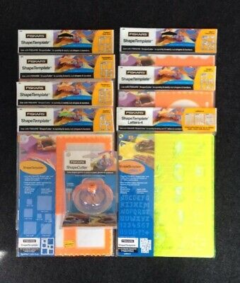 Fiskars Shapecutter with 7 sets of templates -Unused- See discription for detail