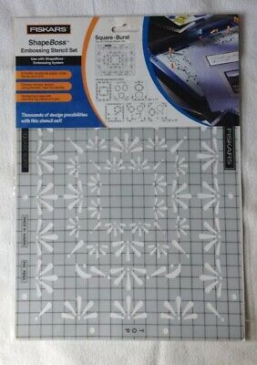 Fiskars ShapeBoss  'Square-Burst' Embossing Stencil Set