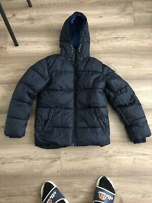 Next Boys Winter Puffer  Hoodie Jacket Dark Blue Size 10yeats 140 Height