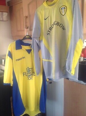 Mens Macron Leeds United Away  Size XL & Uk 14-16 Strong bow Shirt & 1 Free