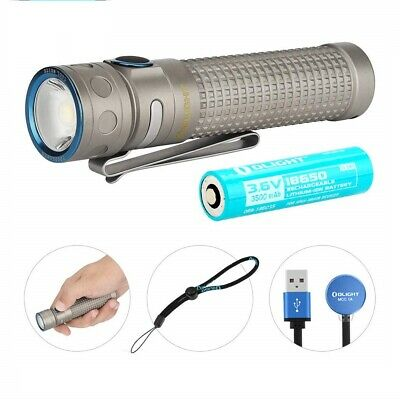 Olight Baton Pro Ti 2000 Lm magnetic rechargeable LED flashlight (Gray Titanium)