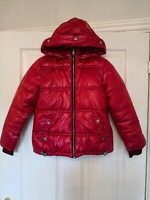 Next Girls Lovely Winter Warm Pink Red Coat Age 9-10 Years