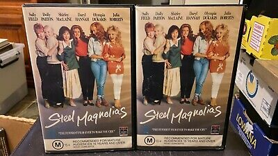 Steel Magnolias VHS Ex-rental VHS video tape HTF Dolly Parton Julia Roberts RCA