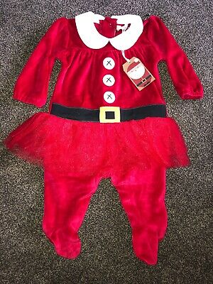 Next Girls Age 0-3 Months Christmas All In One Outfit BNWT RRP£12