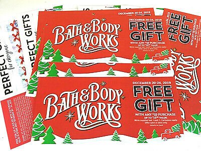 (5) BATH AND BODY WORKS COUPON No Charge Up to $16.50 item w/any $10 BUY