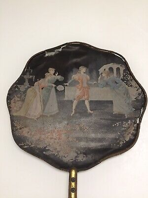 Beautiful Hand Painted Antique Late 19Th Early 20Th C French Silk Fan