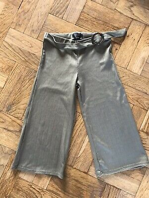 New Look Girls Green Ribbed Cullottes Trousers - Age: 9 Years