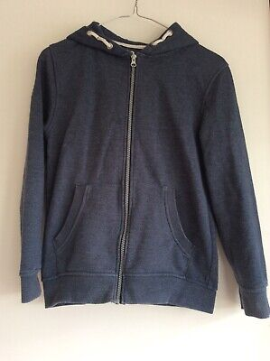 Boys hoodie in blue/grey with a full length zip, age 11-12 or height 152cm