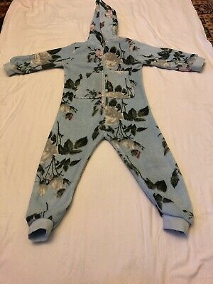Next Blue Girls Floral Pyjama All In One Age 4