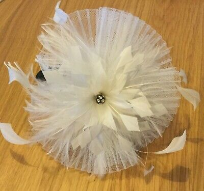 Jasper Conran Ivory Jewelled Feather Fascinator - Debenhams