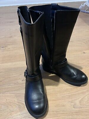 Girls Knee High Boots Black Size 2