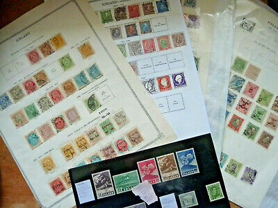 Iceland 1873-1926 Good Stamp Collection~Old Album Pages~Early Classics~Huge Cv