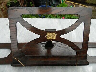 Antique Bershaw Oak Wood Folding Music Stand, Book Rest