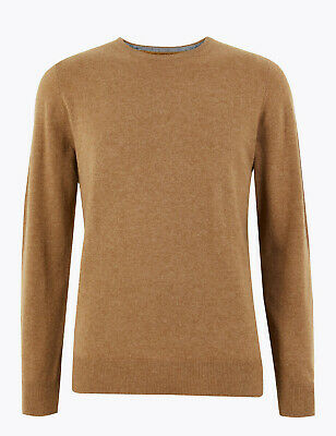 Marks And Spencer M&S Marks Pure Cashmere Crew Neck Jumper Camel Medium M Bnwt