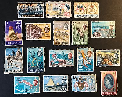 Turks And Caicos 1966-67 Complete Sets Lmm