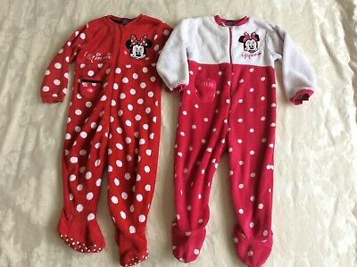 2 x Disney Minnie Mouse sleepsuits 2-3 years in good condition