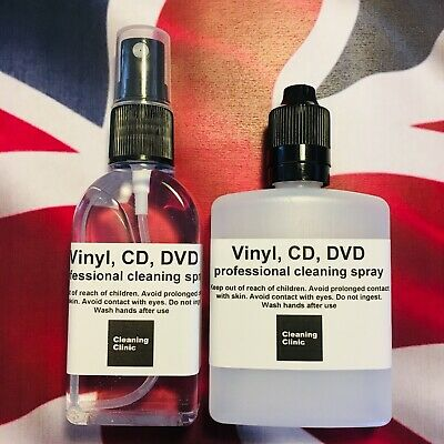 Professional Vinyl record, CD, DVD, Blu-ray cleaner cleaning fluid spray 110ml