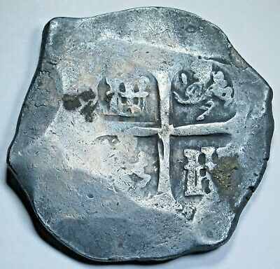 1600's Shipwreck Spanish Silver 8 Reales Eight Real Old Antique Pirate Cob Coin