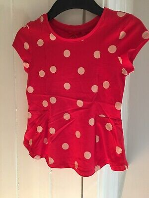 Euc Gorgeous Next Girls Peplum Red Spotted Blouse Top Age 7 Christmas Top