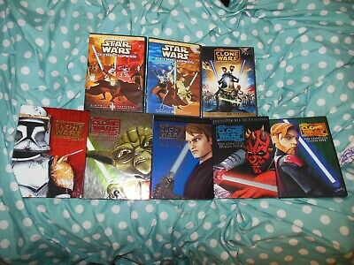 Lot of 8 Star Wars The Clone War DVDS