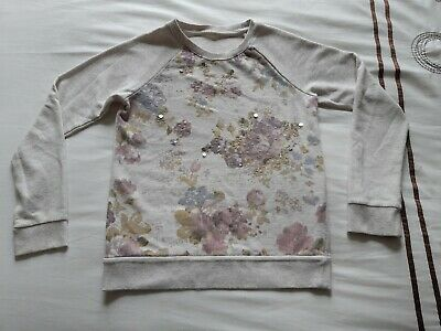 Girls Light Jumper Age 11-12 Floral With Sequin Detail. MARKS AND SPENCER! M&S
