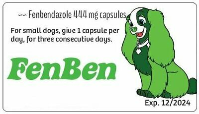 BLOW OUT SALE ~~ Fenben for Dogs and Cats ~~ 96 of the 444 mg capsules