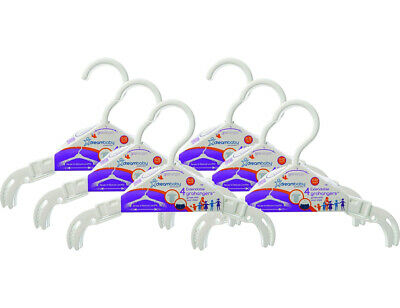 24 Count Dreambaby Extendable GroHangers Clothes Organizer 0-12 Years White