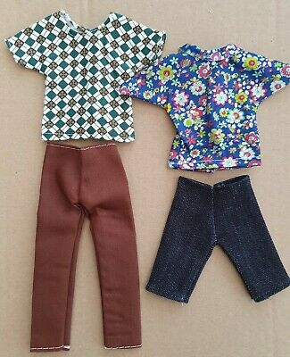 Four Items Of Clothes For Ken, Trousers, Shorts & Two Tops, Same Day  Postage